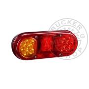 LED hátsó lámpa ovál 12/24V 3funkciós BAL