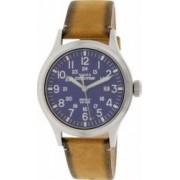 Ceas Timex barbatesc Expedition TW4B01800 argintiu Leather Analog Quartz