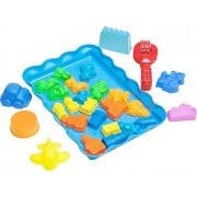 Deluxe City Sand Molds Kit (28 pcs) with Play Tray - Compatible with Kinetic Sand, Sands Alive, Brookstone Sand...