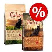 Смесена пробна опаковка: 2 х 400г Purizon Суха храна за котки - Пиле и риба + Риба
