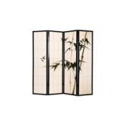 Parawan drewniany, japoński, ręcznie malowany 4 segmentowy