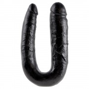PENE DOBLE REALISTA LARGE DOUBLE TROUBLE KING COCK NEGRO