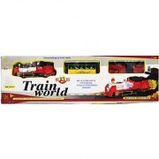 New Pinch Multicolor Track Train World With Light Big(Multicolor)