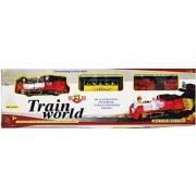 New Pinch Multicolor Track Train World With Light Big(Multicolor)