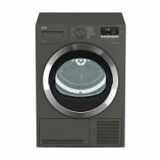 Uscator de rufe Beko DH8444RXM, Eco Gentle Heat Pomp, Motor Prosmart Inverter, LCD, 8 kg, 16 programe, Clasa A++, Gri Manhattan