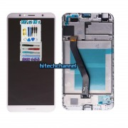 touch screen display lcd frame bianco huawei y6 2018 atu-l11 atu-l21 aum-l29 e honor 7a +colla b7000 kit 9 in 1 e biadesivo
