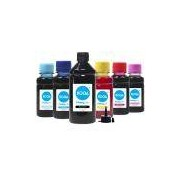 Kit 6 Tintas para Epson Bulk Ink L800 Black 500ml Coloridas 100ml Corante Koga