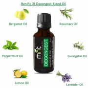 MNT DECONGEST AMAZING BLEND ESSENTIAL Oil (15 Ml) Pure Therapeutic Grade For Mind & Body Sense of Relaxation