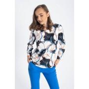 Bluza dama Carlita alba cu imprimeu M (38)