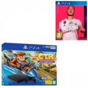 Конзола Crash Team Racing Nitro-Fueled 500GB PS4 Bundle (PS4)+Игра FIFA 20 за Playstation 4 - PS4