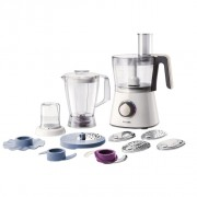 Robot de bucatarie Philips Viva Collection HR7761/00, 750 W, Bol 1.5 l, Blender 1 l, Alb