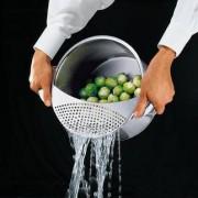 Küchenprofi Abgiess-Sieb, Edelstahl
