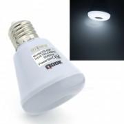 Qook portatil E27 6W LED Pir Sensor de movimiento infrarrojo Lampara de la bombilla de la noche fria blanca