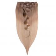 Rapunzel® Extensions Naturali Kit Clip-on Original 7 pezzi O7.3/10.8 Cendre Ash Blond Ombre 50 cm