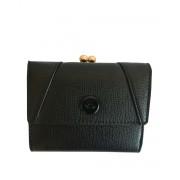 CARPISA Leather Pinch Wallet Black