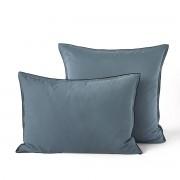Am.pm Fronha de almofada, voile de algodão lavado, Gypseazul-argila acinzentado- 50 x 70 cm