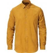 Morris Cedric Baby Cord Button Under Shirt Yellow