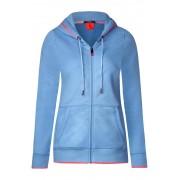 cecil Basic vest in hoodiestijl - powder blue melange