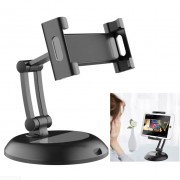 Universal Mobile Phone Stand Desktop Tablet Holder Bracket for 5-13 inch Phones and Tablets - Black