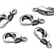 Jewelry Basics Metal Findings-Lobster Clasp Silver 8/Pkg