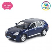 Smiles Creation Kinsmart 1:38 Scale Porsche Cayenne Turbo Car Toy, Blue (5-inch)