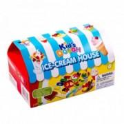 Jégkrém készítő gyurmakészlet, 8 darabos