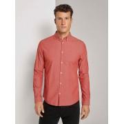 TOM TAILOR Bedrukt Slim Fit Shirt, orange base navy dot design, XXL