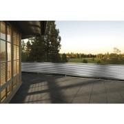 Aparatoare balcon, dungi, gri-alb, 90x500 cm