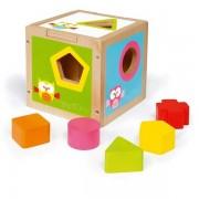 Scratch Europe Cube Boîte à Formes Hibou Lou Scratch - Jouets en Bois