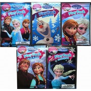 Disney Frozen Anne,Elsa And Olaf Play Packs Ultimate Collection Arts And Crafts Set Each Play Pack Contains 4 Crayons 25 Stickers And 24 Page Fun Size Coloring Book