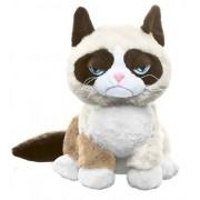 "Ganz Grumpy Sitting Cat 8"" Plush"
