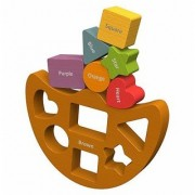 BeginAgain Balance Boat Shapes and Colors - Stacking Toys and Balance Game for Babies and Toddlers - Balancing Toys for
