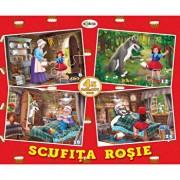 Puzzle - scufita rosie (4 imagini - 59 de piese)/***