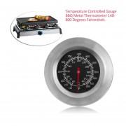 Indicador De Temperatura Controlada BBQ Termómetro Metálico 140-800 Grados Fahrenheit