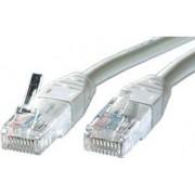 Kabel mrežni Roline UTP Cat 5, 0.5m, (24AWG) High Quality, sivi