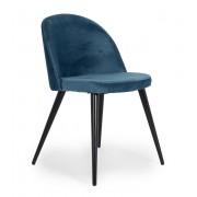 Velvet matstol svart/blå