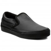 Teniși VANS - Classic Slip-On D VN0A38F8ONQ (Leather) Black/Mono