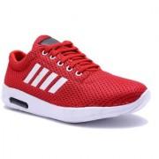 Aadi Men's Red Mesh Outdoor Casual Shoes
