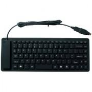 USB Flexible Portable Wired Keyboard - Black