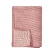 Klippan Yllefabrik Barnpläd velvet rosa ekologisk ull, klippan yllefabrik