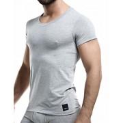 Cut For Men C4M Solid Crew Neck Short Sleeved T Shirt Grey C4M06