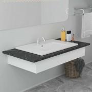 vidaXL Ugradbeni umivaonik 60,5 x 46,3 x 17,5 cm keramički bijeli