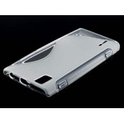 Wave Case for Huawei Ascend P2 - Huawei Soft Cover (Frosted Clear/Clear)