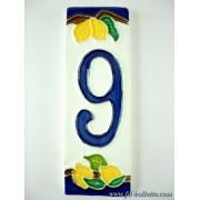 Numero civico ceramica con limoni nl9