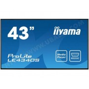 IIYAMA Ecran 43 pouces Full HD Prolite LE4340S-B1