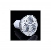 EH 12V3W Aluminio Presión Proyectores GU10 Cabeza Blanca Fría