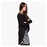 Mujer Blusa De Escte V Fashion-cool-Negro
