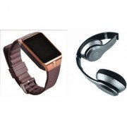 Mirza DZ09 Smart Watch and S460 Bluetooth Headphone for LG OPTIMUS L9.(DZ09 Smart Watch With 4G Sim Card Memory Card| S460 Bluetooth Headphone)