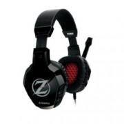 Слушалки Zalman ZM-HPS300, с микрофон, черни/червени, 3.5 mm Jack