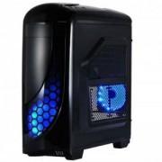 Кутия SPIRE ANUBIS X2-T1611B/W-2U3-2BL Blue Led, ATX, Черна, SP-CASE-X2-T1611B/W-2U3-2BL